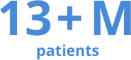 13+ Million patients