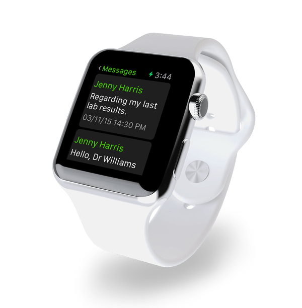 Apple watch showing provider messaging employees