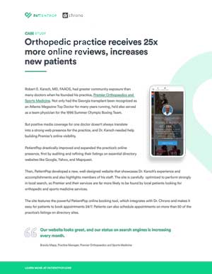 Case Study for Orthopedic practice