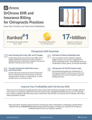 White paper EHR and billing insurance for Chiropractic practices