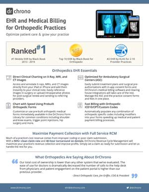 White paper EHR and medical billing for Orthopedic practices